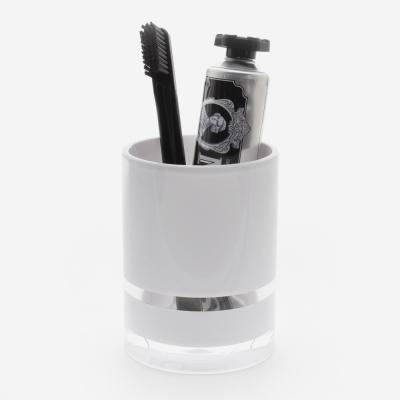 gobelet porte brosse à dent blanc - ROMY - 005602 - Bath Bazaar