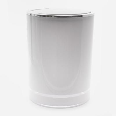 Poubelle de salle de bain et WC blanc a bascule_005606_BathBazaar