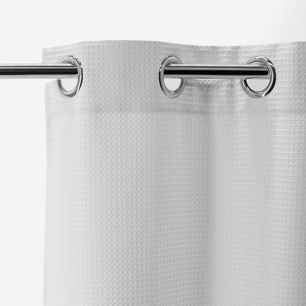 Rideau de douche blanc - Honoré - 016654 - BathBazaar