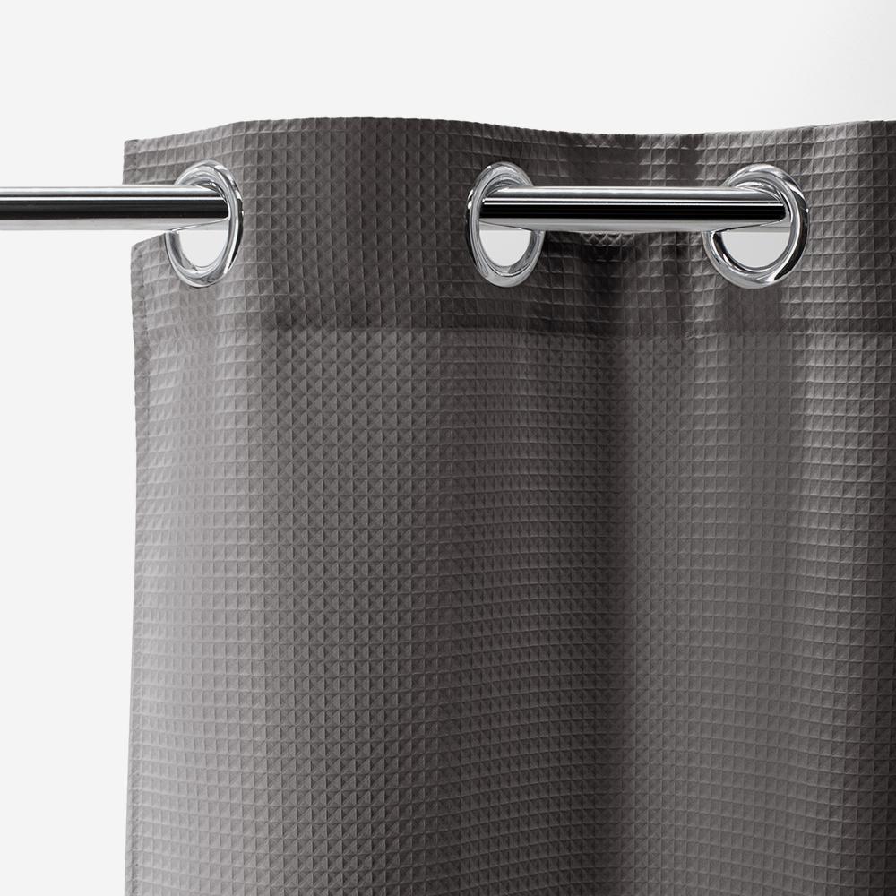 Rideau de douche gris - Honoré - 016655 - BathBazaar