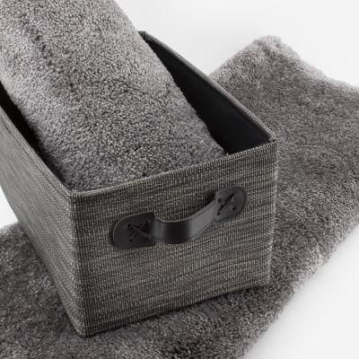 Tapis de bain gris 2050 g/m² polyamide et dos latex - Dolce
