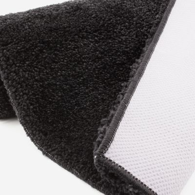 Tapis de bain noir 2050 g/m² polyamide et dos latex - Dolce