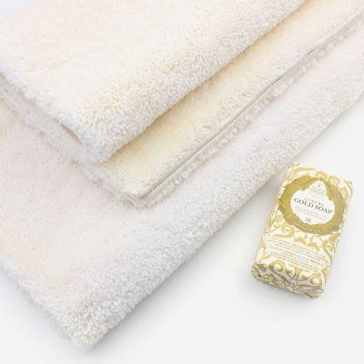 Tapis de bain écru 2050 g/m² polyamide et dos latex - Dolce