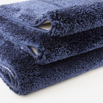 Tapis de bain bleu cobalt 2050 g/m² polyamide et dos latex - Dolce