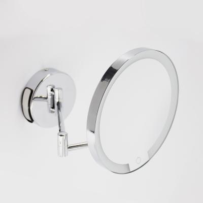 Miroir LED mural X7 noir ou chrome  - DAY_005651_BathBazaar